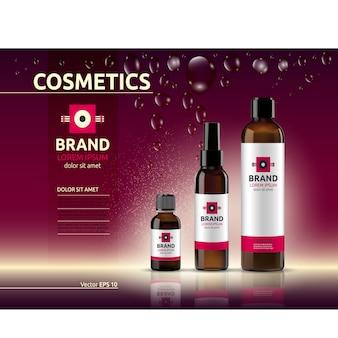 Modelo de embalagem cosmética