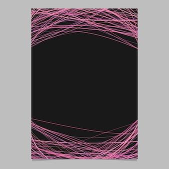 Modelo de folheto com listras aleatórias em tons de cor-de-rosa - ilustração do folheto de vetores em branco no fundo branco