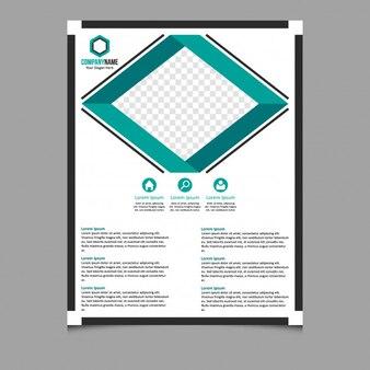 Modelo de folheto corporativo abstrato