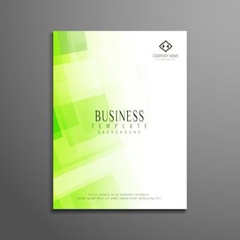 Modelo de folheto de negócio de cores verde brilhante brilhante