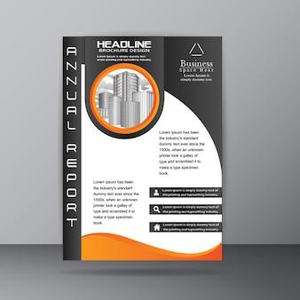 Modelo de Folheto de Relatório Anual para Empresa Corporativa Propósito