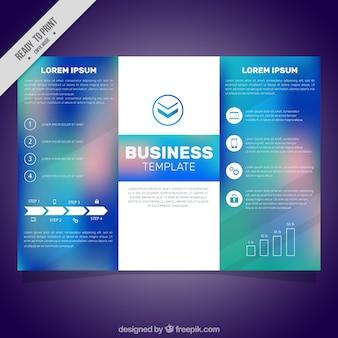 Modelo de livro de negócios com efeito borrado