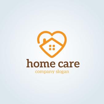 Modelo de logotipo de cuidados domiciliários.