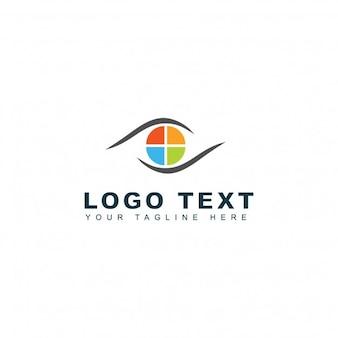 Modelo de logotipo de mídia fotográfica