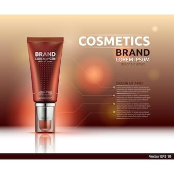 Modelo de marca cosmética