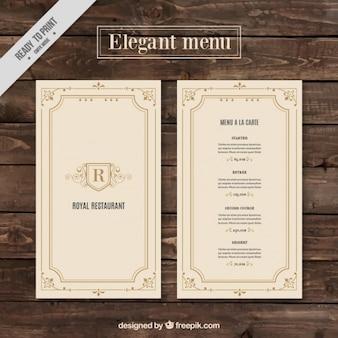 modelo de menu clássico