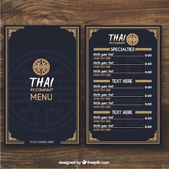 Modelo de menu tailandês