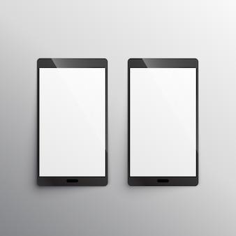Modelo de mockup do smartphone touchscreen