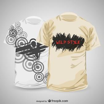 modelo de projeto abstrato t-shirt