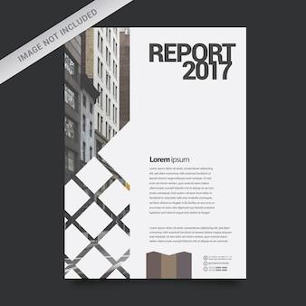 Modelo de relatório de negócios geométrico