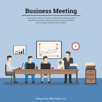 Modelo de reunião de negócios
