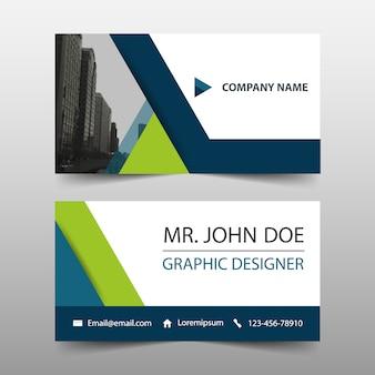 Modelo do cartão corporativo triângulo verde