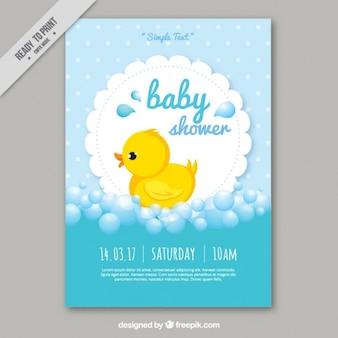 Modelo do cartão de chá de bebê bonito