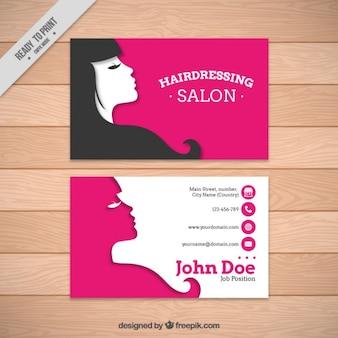 Modelo do cartão de salão de cabeleireiro