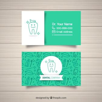 Modelo do cartão de visita do dentista