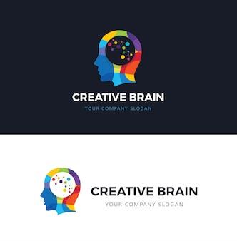 Modelo do logotipo da mente criativa