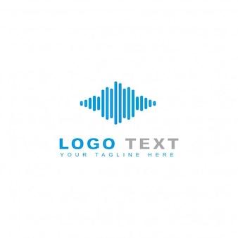 Modelo do logotipo da música da nuvem