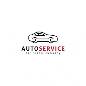 Modelo do logotipo do serviço automático