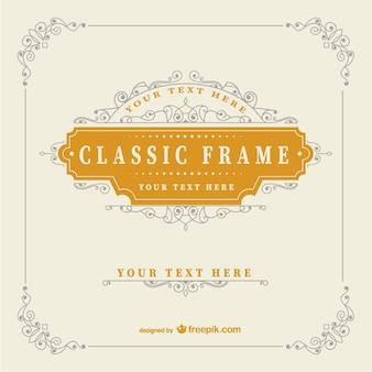 Modelo do quadro vintage clássico
