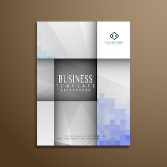 Modelo geométrico abstrata do folheto empresarial