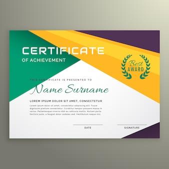 Modelo geométrico abstrato de certificado de realização