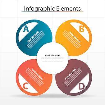 Modelo infográfico de negócios abstrato colorido