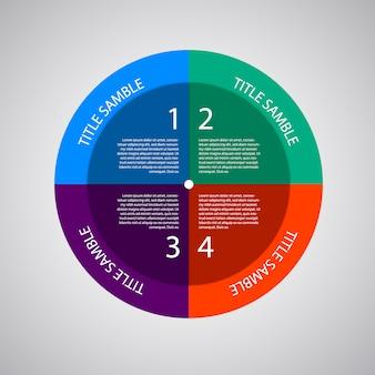 Modelo infográfico multicolor com opções