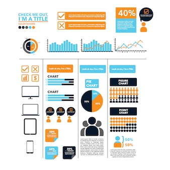 Modelo infográfico multicolorido