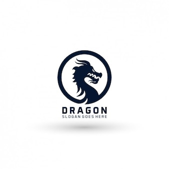 Modelo logotipo do dragão