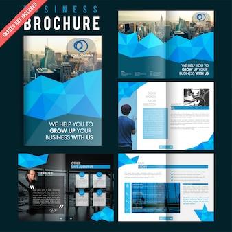 Modelo moderno de revista layout anúncio