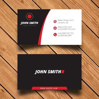 Modelo moderno do cartão de visita empresarial