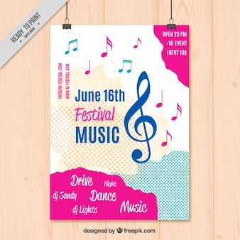 Modelo Poster da música