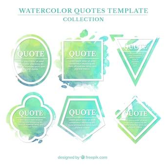 modelos de citações aquarela verde