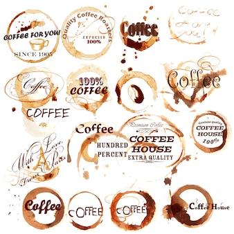 Modelos de logotipo do café