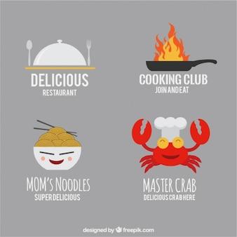 Modelos de logotipo engraçado restaurante