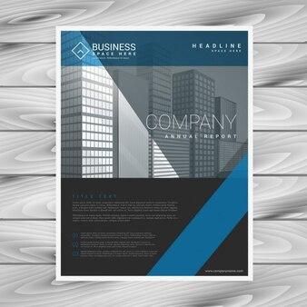 Moderna empresa do molde do negócio panfleto