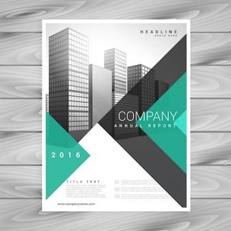 Moderna folheto do negócio empresa com formas geométricas abstratas