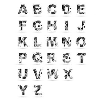 Moderno alfabeto desenhos