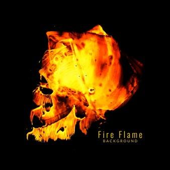 Moderno, fogo, chama, desenho, fundo