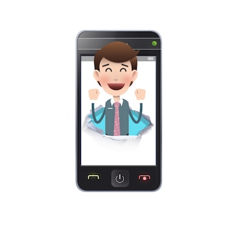 Moderno telefone gadget mensagem jovem