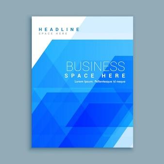Molde abstrato do projeto do folheto do negócio