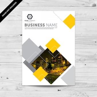 Molde amarelo e cinza do modelo do insecto do negócio da cidade com quadrados