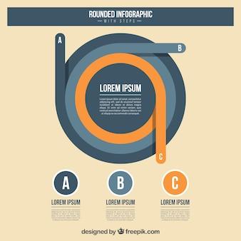 Molde circular abstrato do infographic
