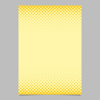 Molde de cartão de padrão de círculo de meio-tom abstrato da cor - design de fundo do folheto de vetores com pontos coloridos