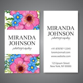 Molde de cartão de visita floral