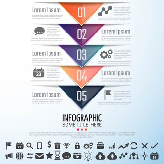Molde de design de Infografia de seta