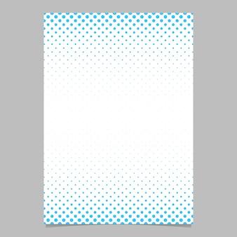 Molde de folheto de padrão de pontos de meio-tom retro - ilustração do fundo do cartaz de vetores com padrão de círculo