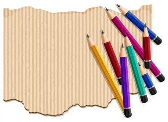 Molde de fundo com pilha de lápis