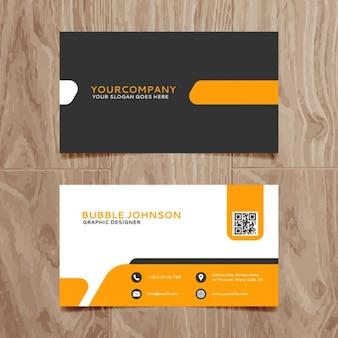 Molde do cartão simples moderno