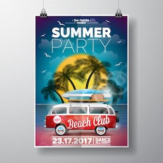 Molde do cartaz do partido do verão